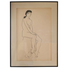 Jerry O'Day Nude Drawing #1