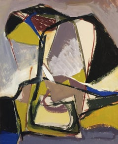 Mid Century Bay Area Figurative Movement Abstract Painting San Francisco Museum