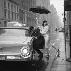 Anne St. Marie, Pushing Man in Cab, 1958 - Jerry Schatzberg