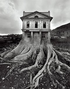 Jerry Uelsmann, Untitled, 1982 [tree - house]