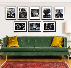 A set of 8 Prints by Jerry Uelsmann Surreal Figurative Photography 1970 Framed