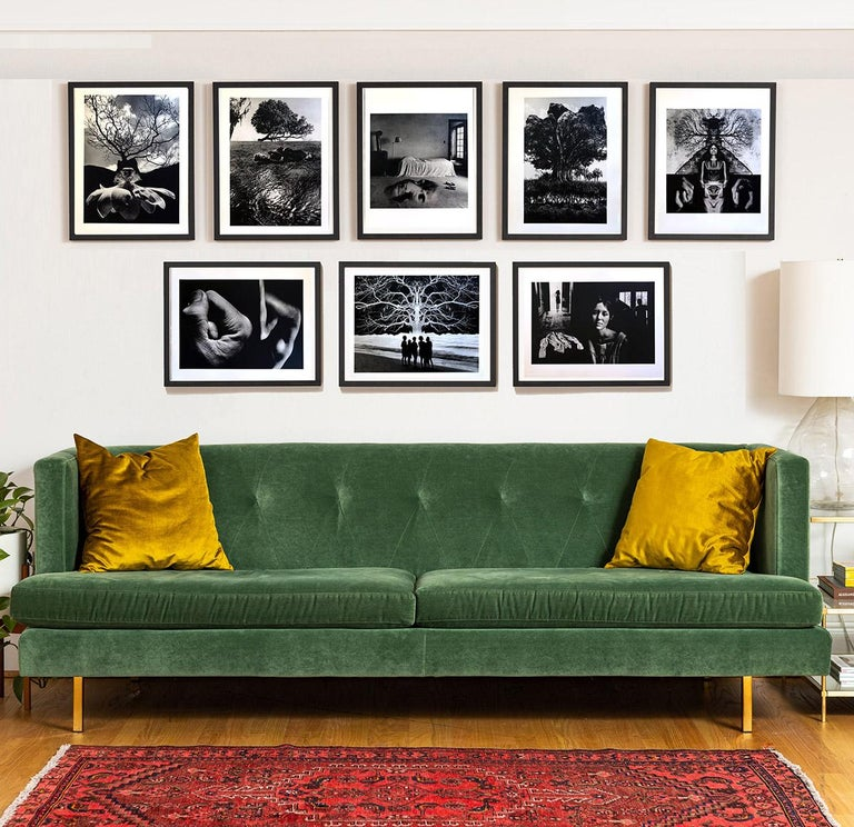 """A set of 8 lithographs by surreal photographer Jerry Uelsman.  Each image of various sizes is framed and matted to fit a 16"""" x 20"""" archival black frame presentation, which can be arranged in a variety of ways.  Born in Detroit on June 11, 1934,"""