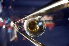 Abstract Trombone in Window Fine Art Print