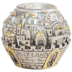 Jerusalem Design Round Shape Tea Light Holder