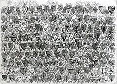 A heart - XXI century, Black and white figurative print