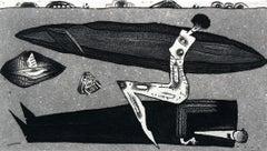 Domination - XXI century, Black and white figurative print