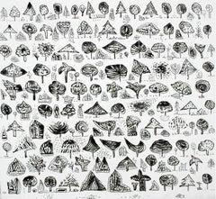First love's garden - XXI Century, Contemporary Figurative Print