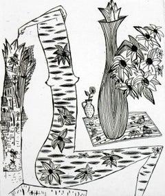 Florist in a regional dress - XXI Century, Contemporary Graphics