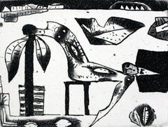 The sleep in your arms - XXI Century Contemporary Figurative Etching Black White