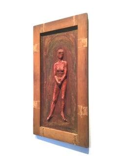 Nude Standing Woman -  Relief Sculpture