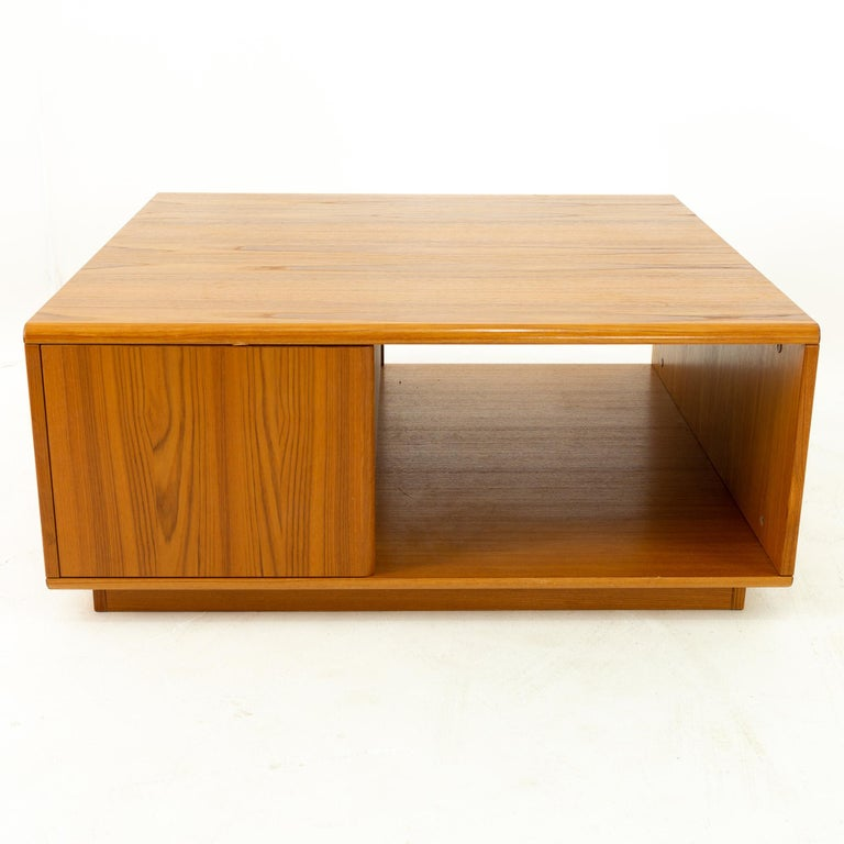 Jesper International midcentury Danish teak large storage coffee table 