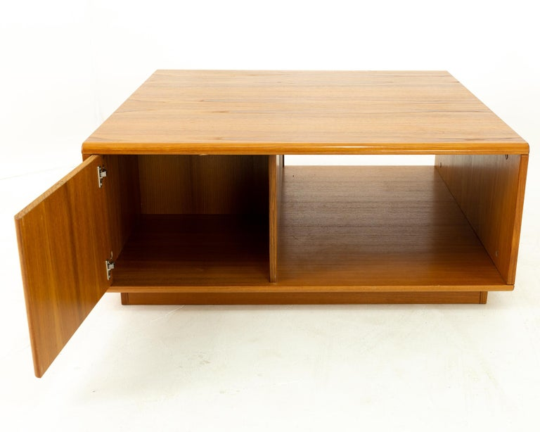 Mid-Century Modern Jesper International Midcentury Danish Teak Large Storage Coffee Table