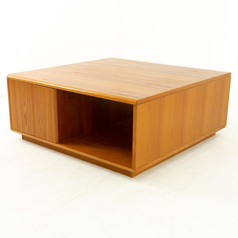 American Jesper International Midcentury Danish Teak Large Storage Coffee Table
