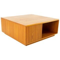 Jesper International Midcentury Danish Teak Large Storage Coffee Table