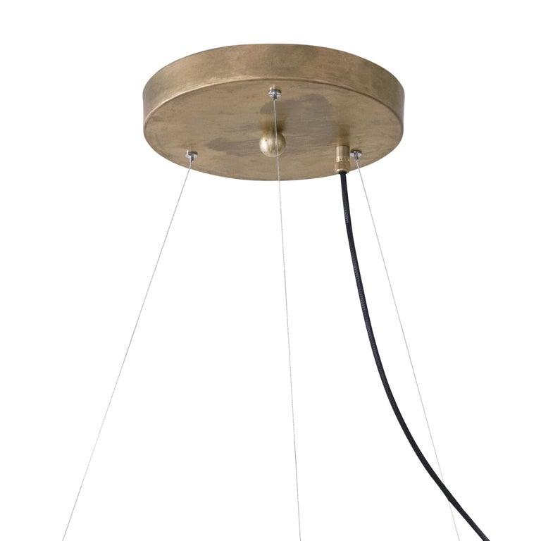 Jesper Ståhl Megafon 9 Round Raw Brass Ceiling Lamp by Konsthantverk  In New Condition For Sale In Barcelona, Barcelona