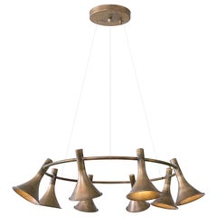 Jesper Ståhl Megafon Bras Pendant Lamp by Konsthantverk Tyringe