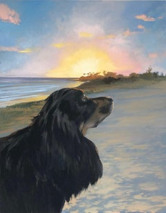 Evening Walk, Oil Painting