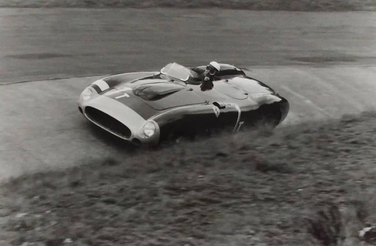 Jesse Alexander Portrait Photograph - Eugenio Castellotti, Ferrari, 86 Monza, Nurburgring, Germany