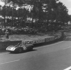"Le Mans 24 HRS, RN 3 Aston Martin in ""Esses"" corner"