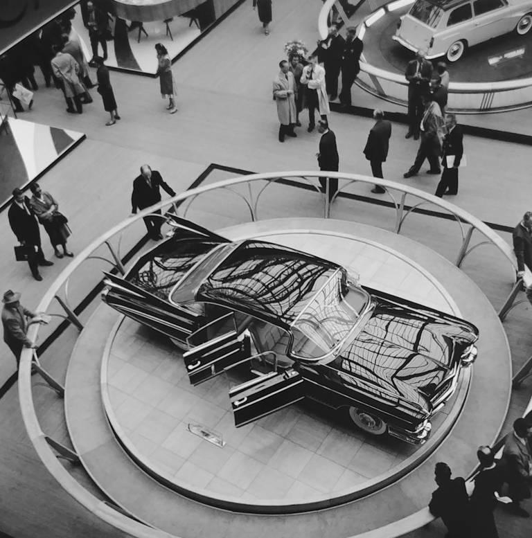 Jesse Alexander Black and White Photograph - Paris Auto Show - General Motors design