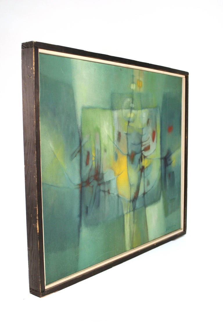 Jesse Bardin Modern Acrylic on Canvas Painting For Sale 2