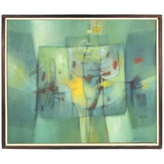 Jesse Bardin Modern Acrylic on Canvas Painting