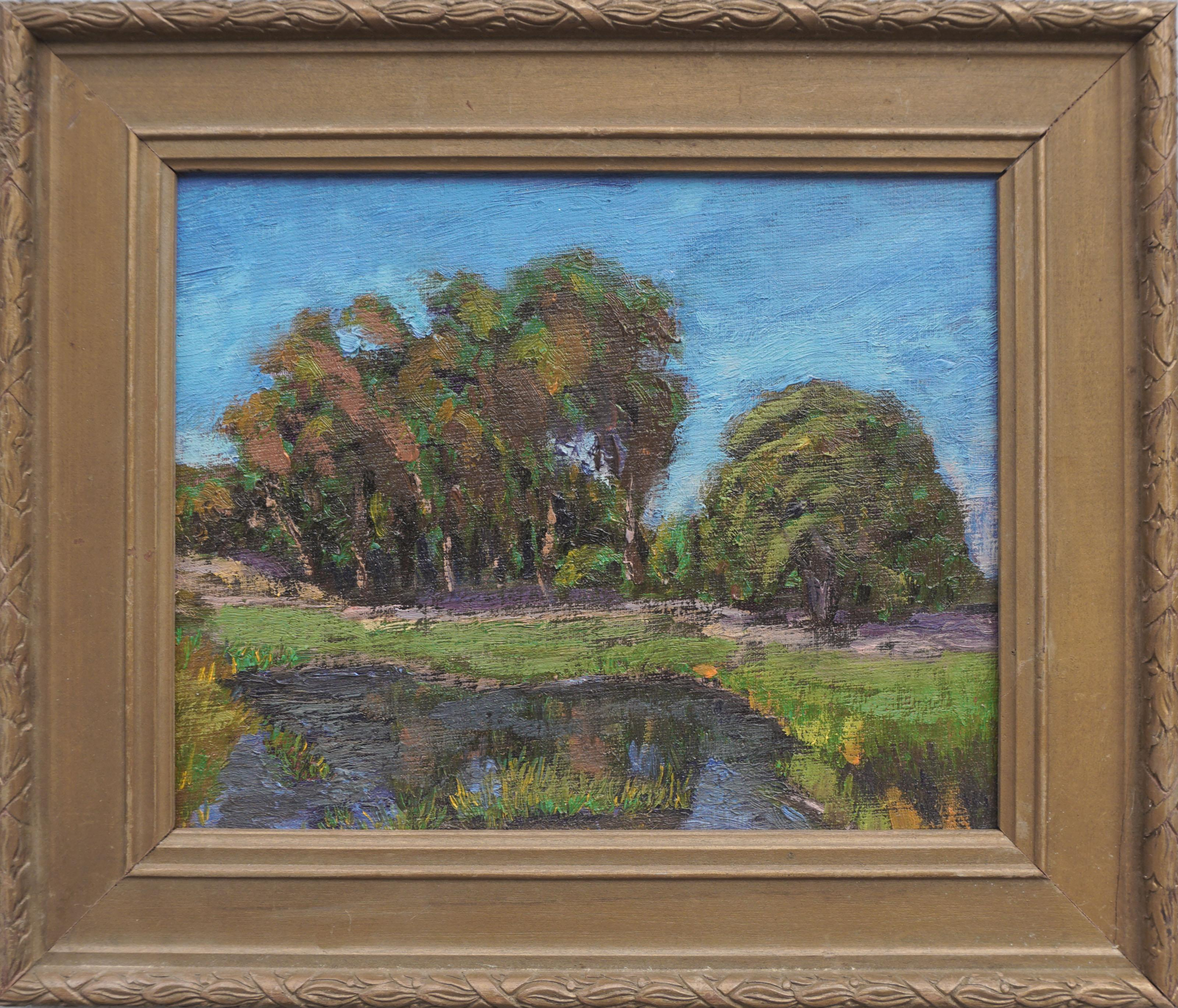 Eucalyptus, Oak and Pond Landscape