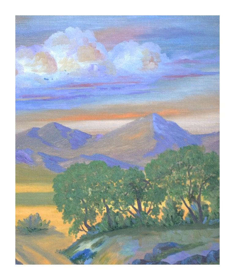 Fauvist Mt. Tamalpais Mountain Meadow Landscape - Painting by Jesse Don Rasberry