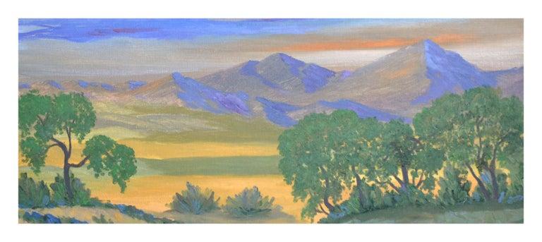 Fauvist Mt. Tamalpais Mountain Meadow Landscape - Gray Landscape Painting by Jesse Don Rasberry