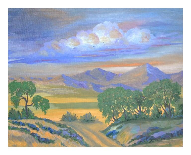 Jesse Don Rasberry  Landscape Painting - Fauvist Mt. Tamalpais Mountain Meadow Landscape
