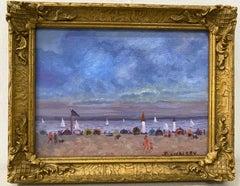 Jesse Rasberry Coastal Landscape With Figures C.2000