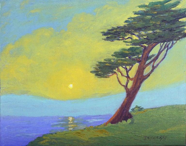 Jesse Don Rasberry  Landscape Painting - Monterey Cypress Sunset