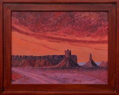 Purple and Red Mesa Landscape