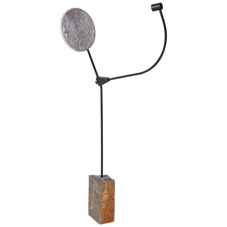 """Jesse Ede, """"Eclipse"""", Aluminium, Steel and Slate Floor Light For Sale"""