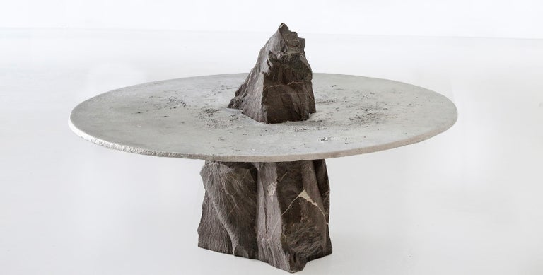 Born in Cape Town in 1985, Jesse Ede is a self-taught designer who favours a materials and process-driven approach to furniture design. Working primarily in aluminium, stone, bronze and brass, he looks to celebrate the rawness of uncontrollable