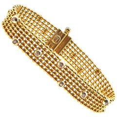 """Jessica"" 18 Karat Yellow Gold Diamond Bracelet"