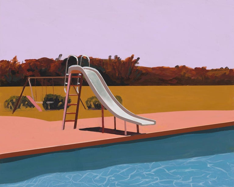 Jessica Brilli Landscape Painting - A Very Hot Day