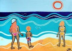 Beach Scene, Original Painting