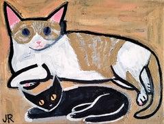 Big Cat, Little Cat, Original Painting