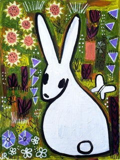 Bunny in the Prairie, Original Painting