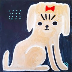 Girl Dog, Original Painting
