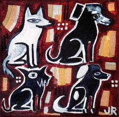 The Violinist's Dogs, Original Painting