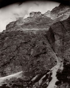 Monument 5, black and white photograph of mountain-scape