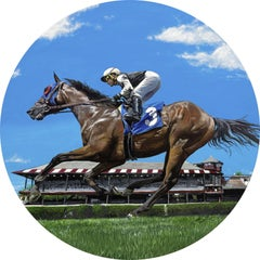 "Jessica Leonard, ""A Day at the Spa"", 24x24 Equine Oil Painting on Aluminum"