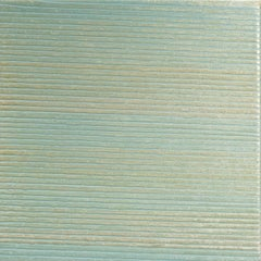 HS-CS Two, Square Light Mint Green Glittery Striped Painting on Panel