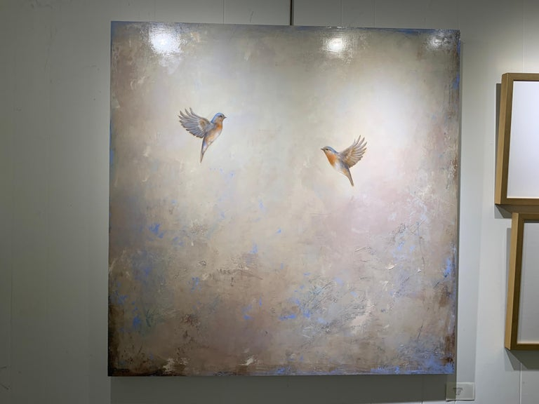 Coming Together by Jessica Pisano, Contemporary Bird Painting on Board 2