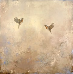 Coming Together by Jessica Pisano, Contemporary Bird Painting on Board