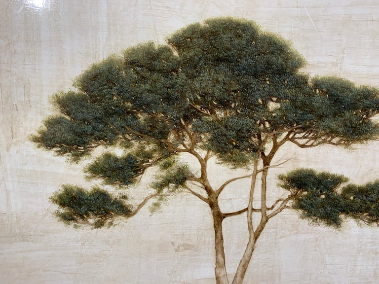 First Light by Jessica Pisano, Contemporary Tree Painting on Board For Sale 2