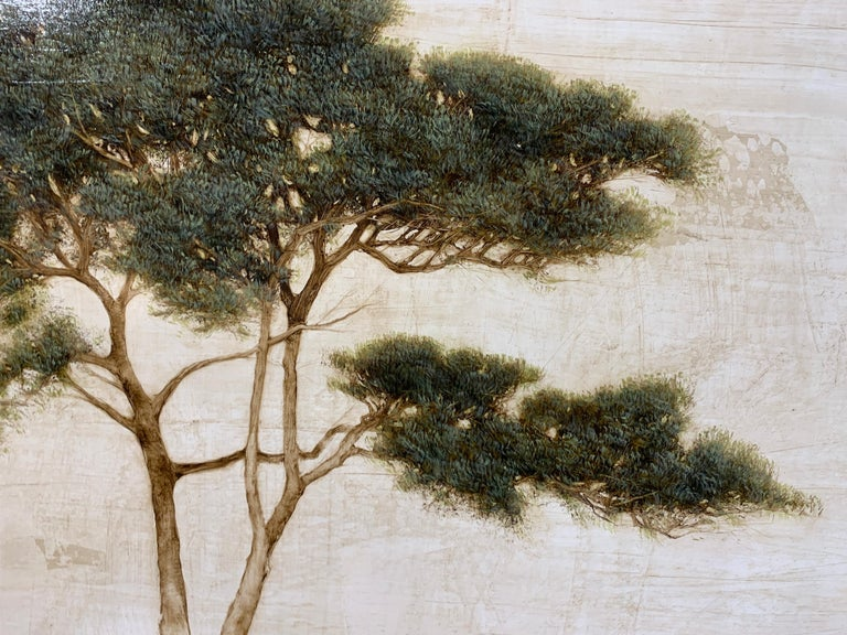 First Light by Jessica Pisano, Contemporary Tree Painting on Board For Sale 3