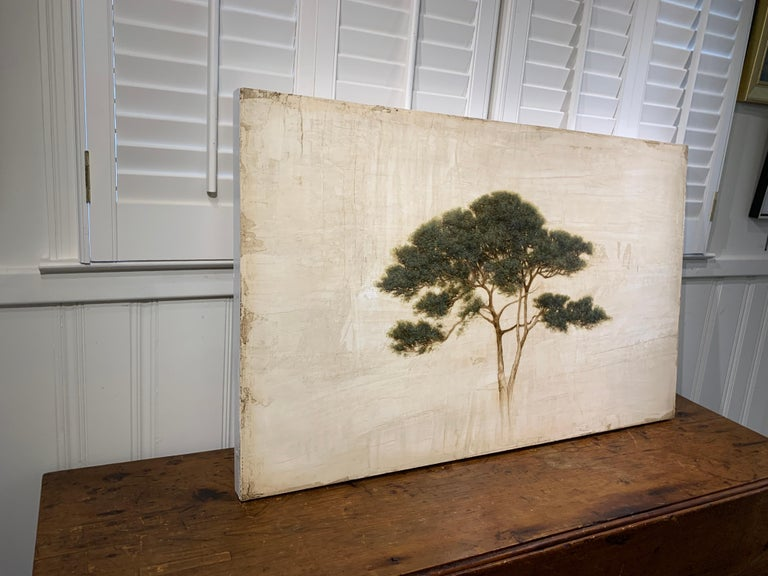 First Light by Jessica Pisano, Contemporary Tree Painting on Board For Sale 6